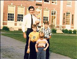 Mitt and sons 1979 on first day of school